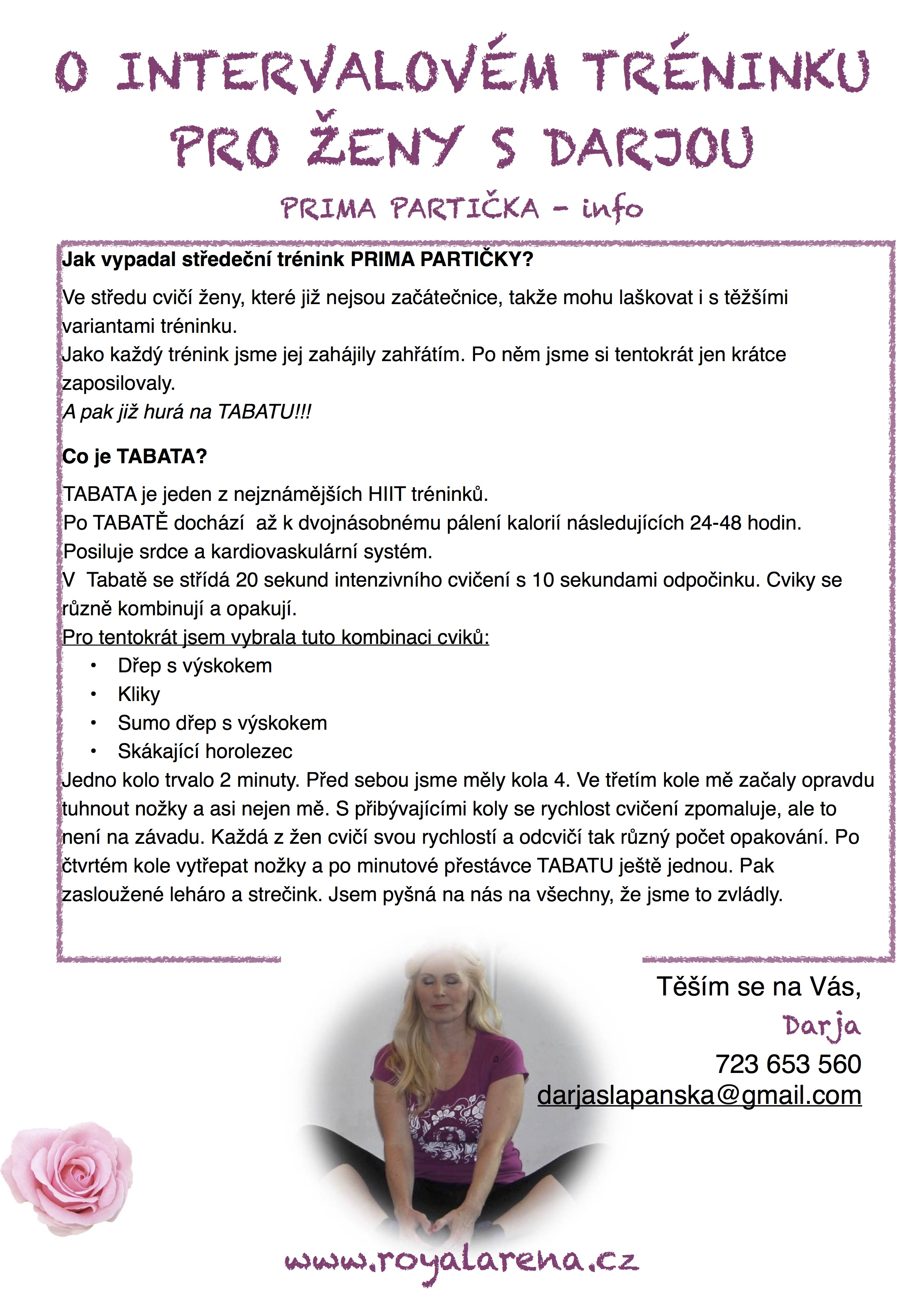 PP - trénink, tabata, 1